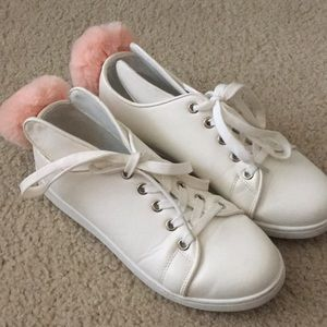 Bunny lace up sneakers